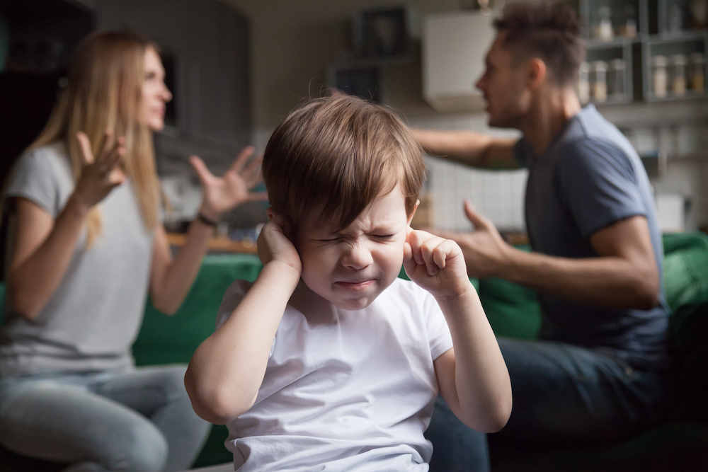 young child experiencing trauma